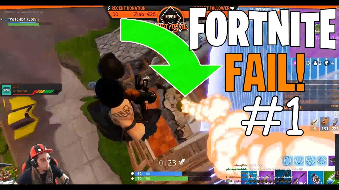 FAIL IN THE GAME FORTNITE STREAM #1