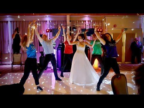 Dancing Waiters Shock Wedding Guests...Then Bride Joins In!