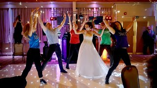 Dancing Waiters Shock Wedding Guests...Then Bride Joins In!