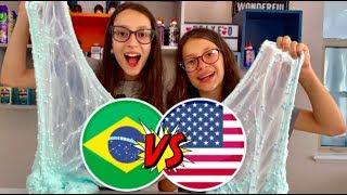 BATALHA DE SLIME - 1 KG DE COLA DO BRASIL VS 1 KG DE COLA DOS EUA