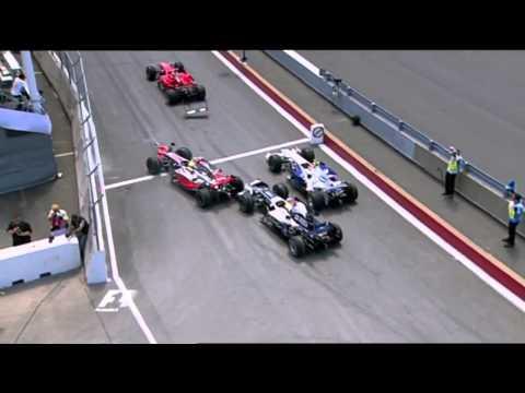 Hamilton & Raikkonen & Rosberg Crash in F1 2008 Canada GP - F1PARK.com