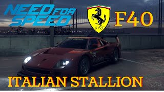 Need For speed update 1.07 - Ferrari F40 1987 THE ITALIAN STALLION - PS4 gameplay
