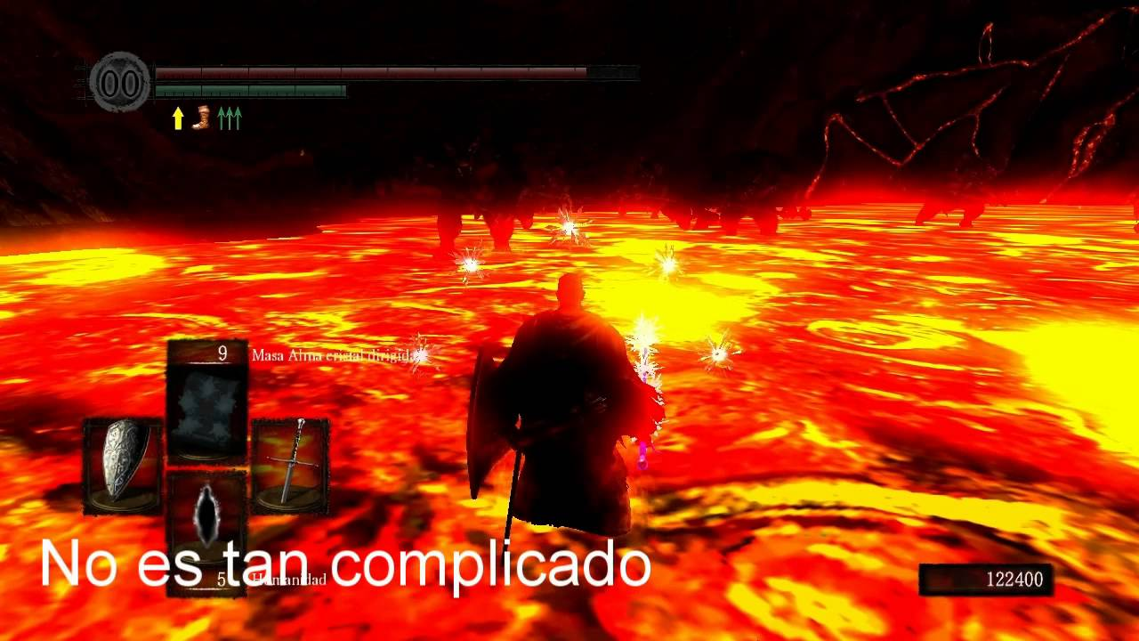 Dark souls se puede matar a descarga incesante desde la for Temperatura lava