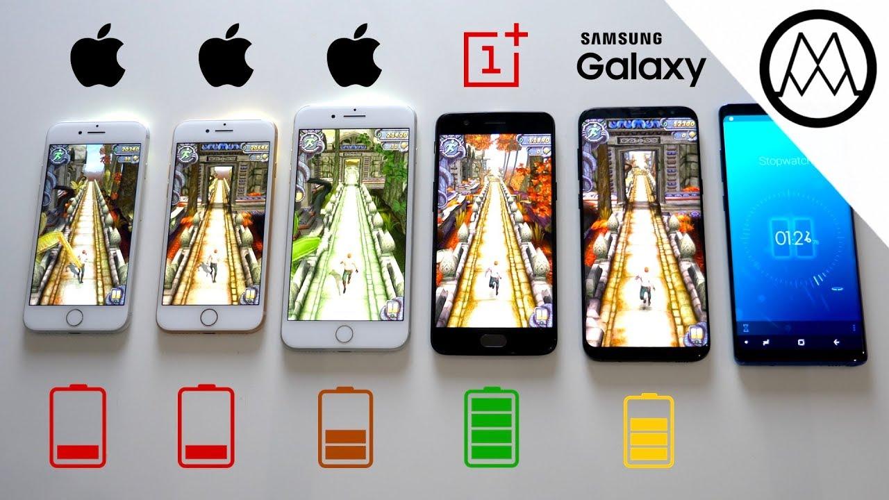 Samsung Galaxy S8 Vs Iphone 8 Battery Life