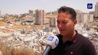 هدم المنازل في حي وادي الحمص ينغص على السكان فرحتهم بالعيد (11/8/2019)