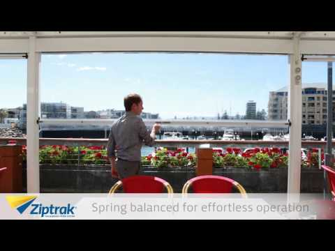 Outdoor Track Guided Blinds- Ziptrak®