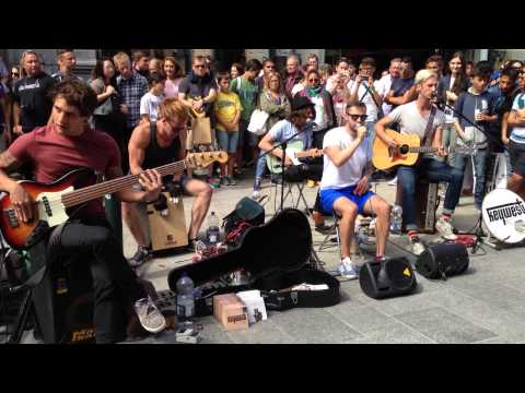 Keywest - Counting Stars ( live Grafton Street 9 august 2014)