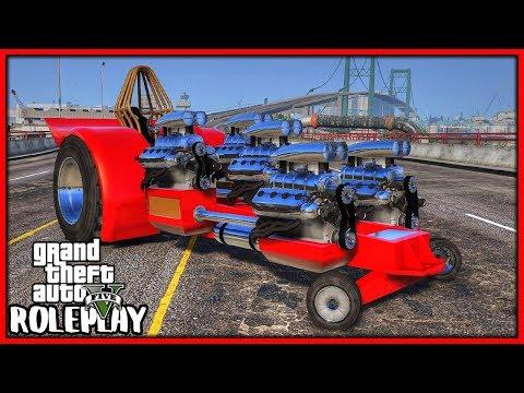 GTA 5 Roleplay - FIVE ENGINE DRAG TRACTOR!!! | RedlineRP #710