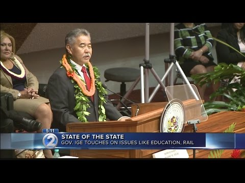 Gov. Ige addresses reduced revenue forecast in State of the State