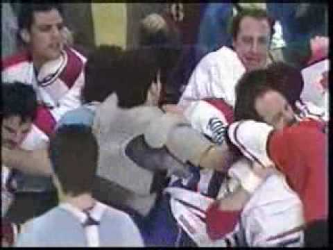 Philadelphia Flyers at Montreal Canadiens pre-game play off brawl 10 minute version