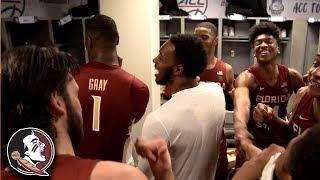 FSU Celebrates Huge Win Over UVA In The Locker Room
