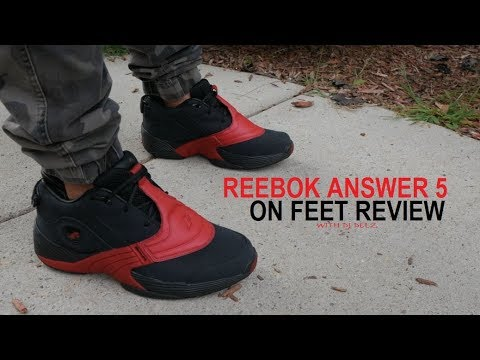 Reebok Classics Answer 5 V Bred Black Red Sneaker Review ...
