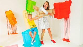 Vlad y Nikita son hermosas en casa! ¡Colección de videos para toda la familia!