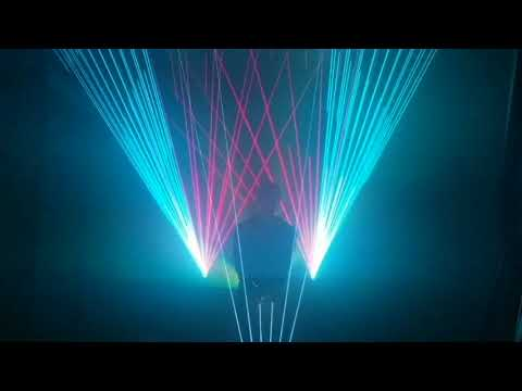 "KB2D ""Laser Harp"" Demo - Interactive device by Lightdiction"