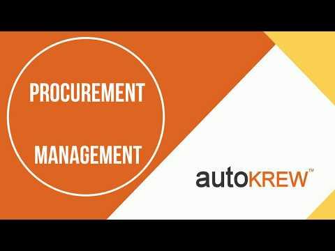 AutoKrew PMS - Procurement Management System Walk-through Video