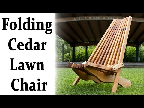 How To Make A Folding Cedar Lawn Chair DIY Woodworking ...