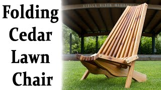 How Make Folding Cedar Lawn Chair Diy Woodworking Projects