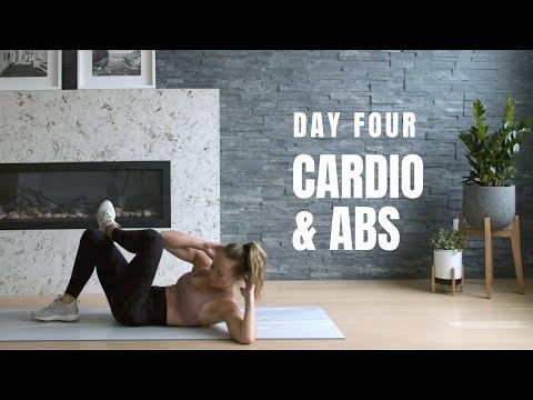 Day 4 Home Workout Challenge // CARDIO + ABS (No Equipment)
