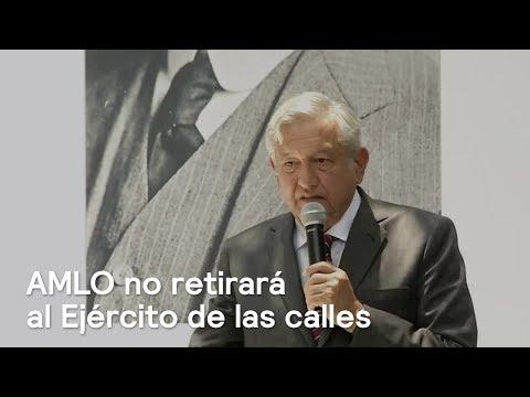 López Obrador no retirará al Ejército de las calles - En Punto con Denise Maerker