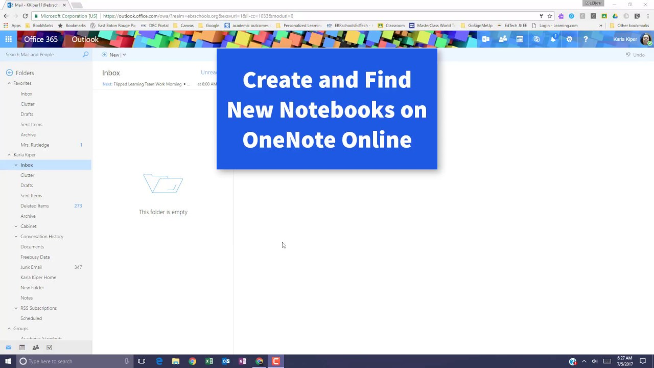 Create and Find New Notebooks in OneNote Online