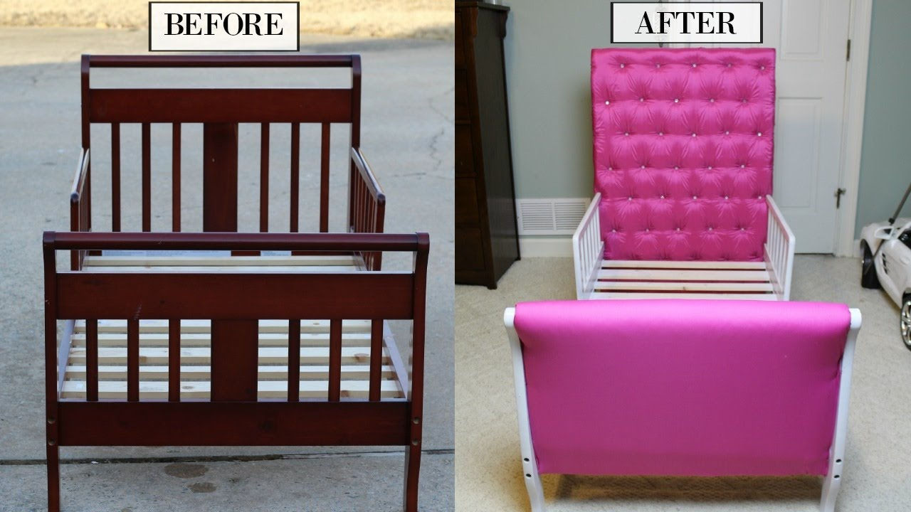 Princess Bed Blueprints Easy Diy Toddler Princess Bed Tufted Diamond Headboard Tutorial