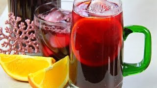 Cranberry Sorrel Rum Punch Recipe.