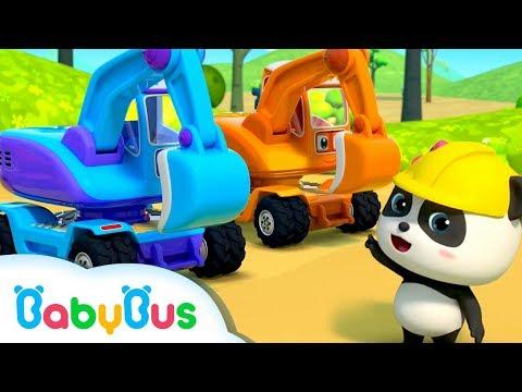 굴착기 동요 힘센 색깔 굴착기 열대 포크레인 색깔놀이 베이비버스 인기동요 BabyBus