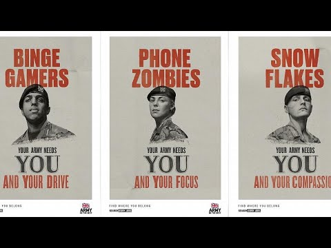 British Army reaches out to 'snowflakes, selfie addicts and gamers'