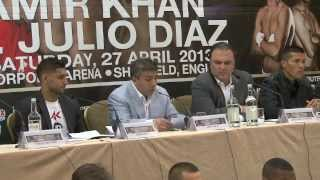 AMIR KHAN v JULIO DIAZ / DEONTAY WILDER v AUDLEY HARRISON - FULL & UNCUT PRESS CONFERENCE