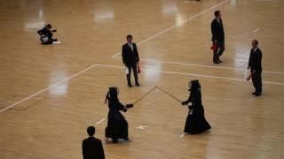2016 全日本女子学生剣道選手権 2回戦 筑波大 合瀬 vs 東北学院大 納谷
