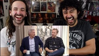 RYAN GOSLING and HARRISON FORD Lose It at HILARIOUS Interview! REACTION!!!