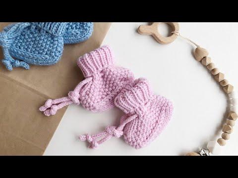 Пинетки вязание спицами самые красивые