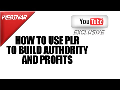 How To Use Private Label Rights Content To Build Your Authority and Profits