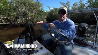 Humminbird 997c si Fishfinder GPS Navigation in the Dark