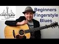 Easy Beginner Fingerstyle Blues Guitar Lesson - FREE TAB - Drue James