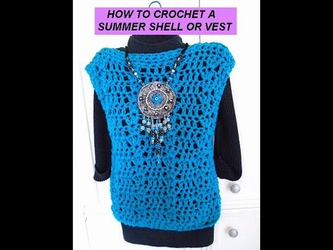 Crochet Peacock Summer Shell Womens Sleeveless Sweater Top Free