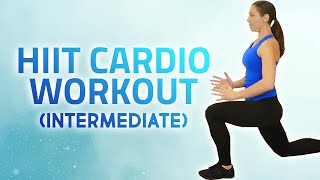 Fat-Burning HIIT Workout! Intermediate Level, Cardio Fitness, At Home, No Equipment, 20 Mins