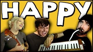 Repeat youtube video HAPPY - Walk off the Earth Ft. Parachute