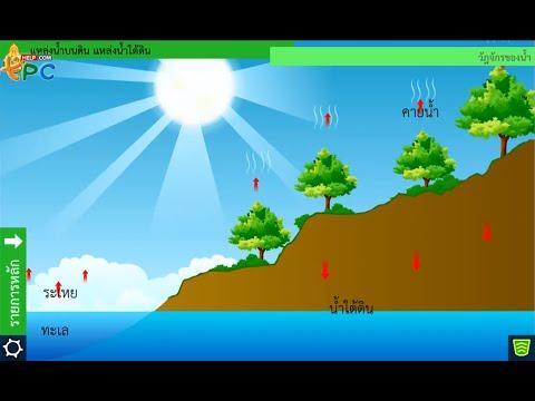 แหล่งน้ำบนดิน แหล่งน้ำใต้ดิน - สื่อการเรียนการสอน วิทยาศาสตร์ ม.2