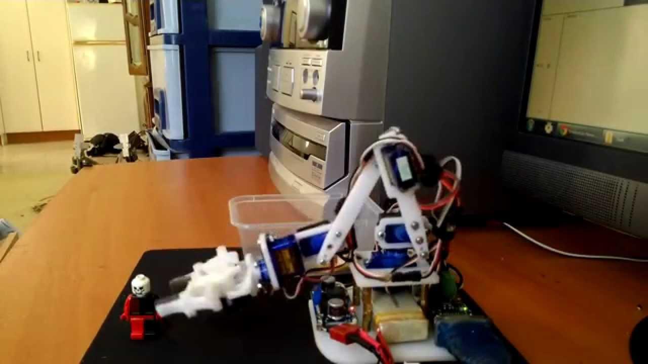 Robotic Arm 6 x SG90 Servo arm and gripper - YouTube
