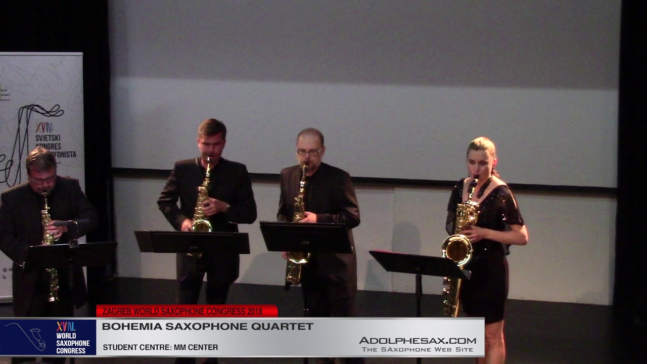 24 hours saxophone quartet by Michael Nyman    Bohemia Saxophone Quartet   XVIII World Sax Congress