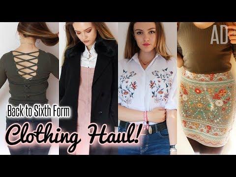BACK TO SIXTH FORM CLOTHING HAUL! | BeautySpectrum
