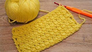 Плотный узор крючком 🥰 Crochet The Cluster Stitch