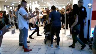 Lines of shoppers enter the newly opened H&M fashion retail store at Westgate Mall in Spartanburg, T