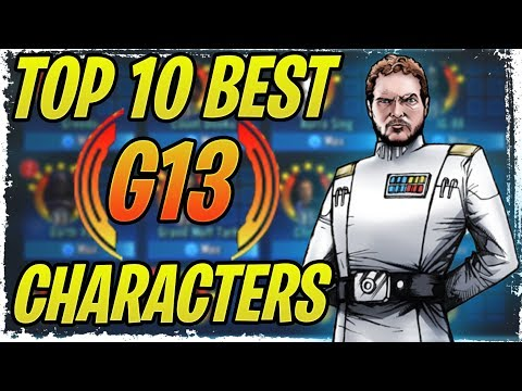 Top 10 Best Characters To Invest Gear 13 First! July 2019 | SWGoH