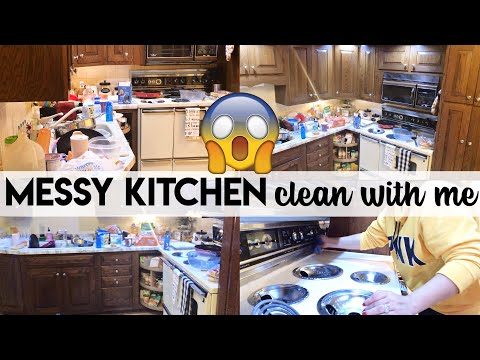 EXTREME CLEAN WITH ME | EXTREMELY DIRTY KITCHEN | CLEANING MOTIVATION