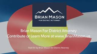 Brian Mason for District Attorney Web Videos Flag