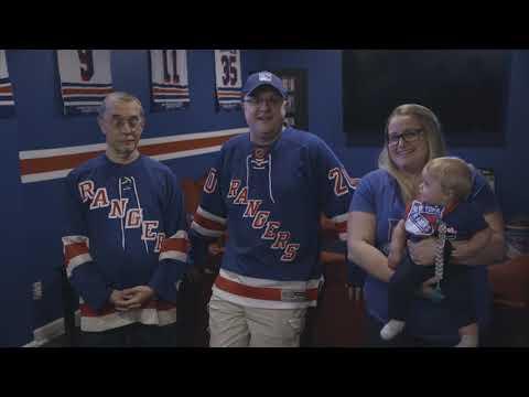 Lifelong Rangers Fan builds his Dream Man Cave | New York Rangers | MSG Networks