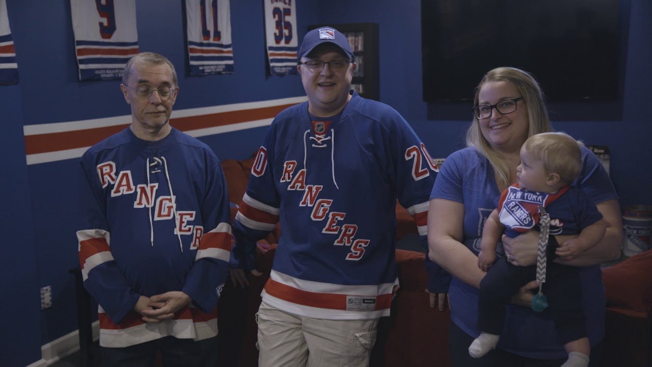 new product 4fe6a fc8a7 Lifelong Rangers Fan builds his Dream Man Cave | New York Rangers | MSG  Networks