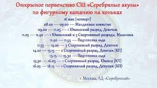 Открытое первенство спортивной школы «Серебряные акулы» 16.05.2019г